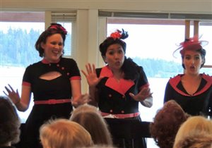 Dolores with the Lady Larks at the Silk Purse in West Vancouver 2014